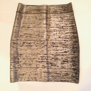 BCBG Maxazria Foil Power Skirt